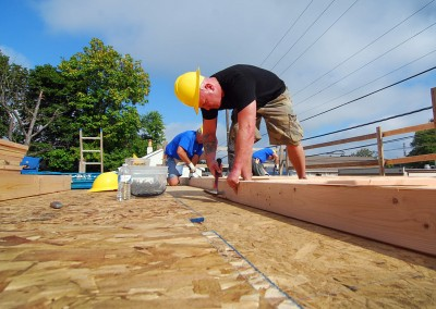 Future homeowner, Andy, working hard on his sweat equity